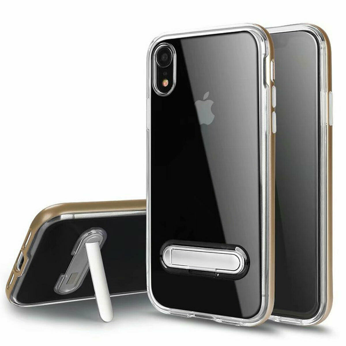 timeless design d75a1 709ba Slim Clear Case with Stand Cover For iPhone XS Max XR X Support Wireless  Charge