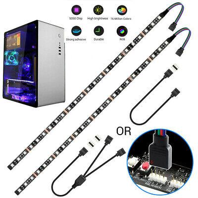 LED Strip Light 5050 RGB Motherboard Control w//4Pin RGB Head PC Computer Case 2m