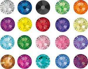 Swarovski-Crystals-Flat-Back-No-Hot-Fix-2058-2088-Rhinestone-Gems-Many-Colours