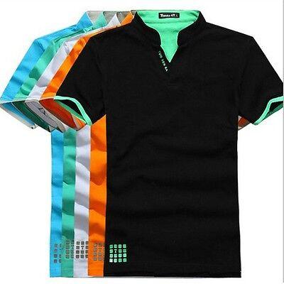 New Mens Polo Shirt Short Sleeve Plain Top Designer Style Fit T Shirt Summer Tee