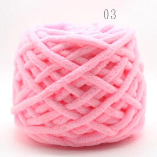 100G X 1 SKEINS Knitting Wool Chunky Crochet Velvet 1PLY Chenille Soft Milk Yarn