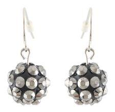 Zest Spiky Metallic Ball Drop Earrings for Pierced Ears Grey
