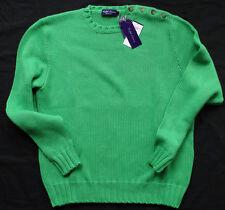RALPH LAUREN PURPLE LABEL Ultraweicher Baumwolle Sweater MADE IN ITALY Gr XXL