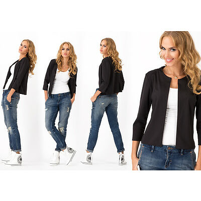 Elegant & Classic Women's Blazer Casual Jacket Style Cape Sizes 8-14 FA339