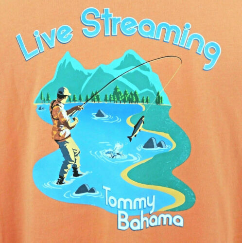 """Tommy Bahama /""""LIVE STREAMING/"""" Apricot Men/'s NWT Regular $49.50"""