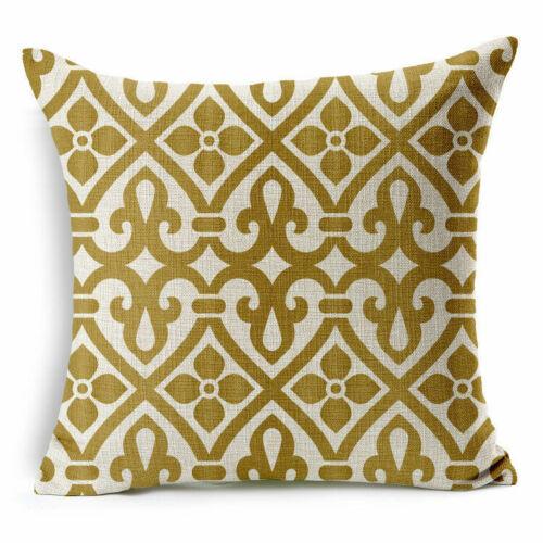 """Dark Gold Europe 18/""""*18/"""" Decor Cotton Linen Cushion cover Pillowcase"""