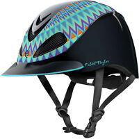Fallon Taylor Barrel Racing Horse Riding Helmet Turquoise Aztec