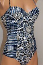 New VOLCOM Swimsuit 1 one piece swimwear sz M Royal Underwire