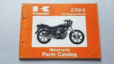 Contemplativo Kawasaki Z 750 E 1980 Catalogo Ricambi Originale Spare Parts Catalog