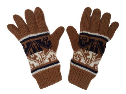 Homme Adulte laine d/'Alpaga Gants Grande Taille Doux hiver neige commerce équitable au Pérou
