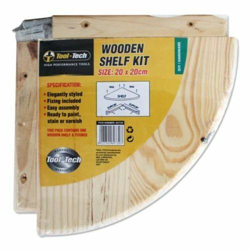 Natural Pine Wood Wooden Corner Unit Shelf Wall Mounted Shelf Kit Stroage Shelfs