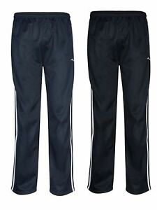 Mens-Tracksuit-Bottoms-Striped-Silky-Casual-Gym-Jogging-Joggers-Sweat-Pants