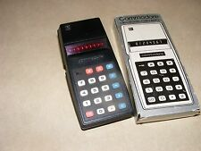 Vintage Commodore 797M Calculator, Red LED Display, Box & Instructions, Classic
