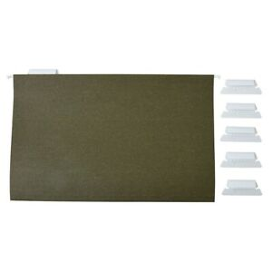 """Staples Hanging File Folders Box Bottom 2/"""" Expansion Legal Size Assorted 25//BX"""