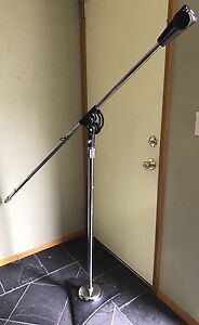 Vintage Atlas Sound Mic Microphone Stand With Boom Arm Ebay