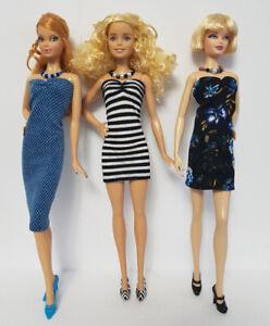 "Fits Model Muse & Barbie Fashionistas 6pc Lot Dresses & Jewelry NO DOLLS d4e ""G"""