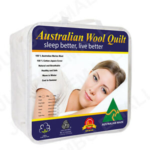 All Size Aus Made Luxury Merino Wool Quilt 350/500/700gsm-summer/winter Aesthetic Appearance Bedding Quilts, Bedspreads & Coverlets