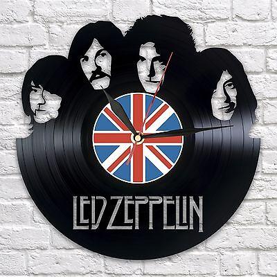 LED ZEPPELIN vinyl wall clock