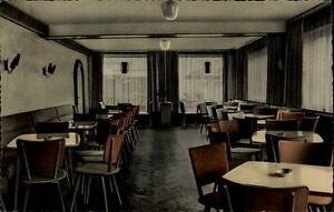 Teisnach-Bayern-Postkarte-1965-gelaufen-Innenansicht-Konditorei-Cafe-Schroetter