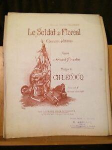 Ch-Lecocq-Le-Soldat-de-Floreal-chanson-militaire-partition-chant-piano-Legouix