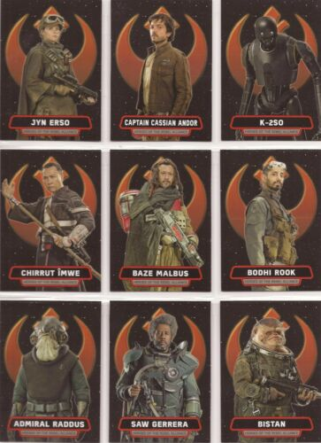 "Star Wars Rogue One S1 HR114 ""Heroes of the Rebel Alliance"" 14 Card Chase Set"