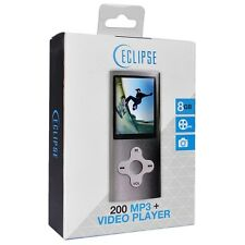 Eclipse 200SL MP3 MP4 Digital Music Video Player Recorder Camera Silver 8GB