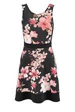 Melrose Kleid schwarz bunt Damen Druckkleid Bluten Gr 32 34 36 38 40 42 44