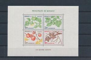 LO10216 Monaco four seasons plants nature good sheet MNH