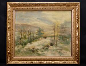 Amical Georges Gaillard (1924) Paysage De Neige Montagne Jura ? Mâcon Roche-vineuse Remises Vente