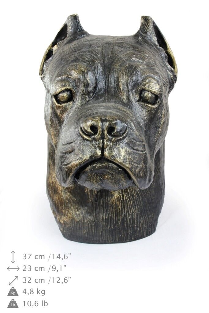 Cane corso italiano - testa di cane, figurina in resina Art Dog IT