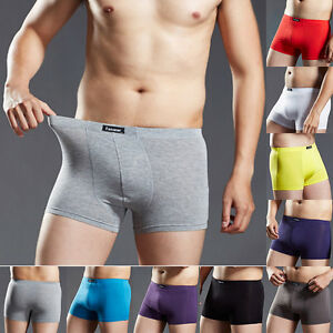 Men-Men-039-s-Boxer-Briefs-Underwear-Trunks-Shorts-Bulge-Pouch-Underpants-Trunks