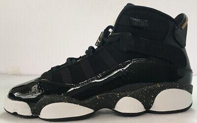 Nike Air Jordan 6 Rings GS Youth Women Black Gold White 323419 007 Multi Sizes