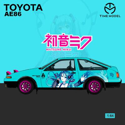 Time Model 1:64 Toyota AE86 Hatsune Miku Diecast Model Car NEW IN BOX