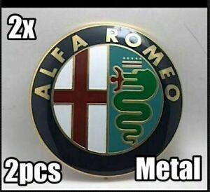 2x-ALFA-ROMEO-Classic-ANTERIORE-POSTERIORE-EMBLEM-BADGE-147-156-159-BRERA-MITO-GIULIETTA