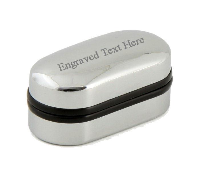 Edge Edge Edge Fermasoldi Colore oro Inciso in Messaggio Box 134f3f