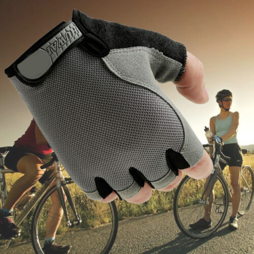 Outdoor Bike Bicycle Breathable Antiskid Sports GEL Cycling Half FInger Gloves