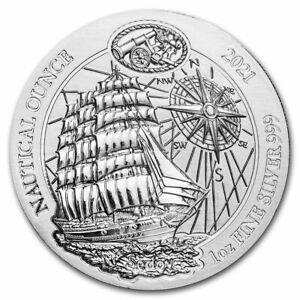 2021 Silver 1 Oz Nautical Ounce Sedov BU Rwanda