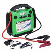 12v Portable Battery Jump Starter Air Compressor Car Booster Jumper 500 Amp on sale