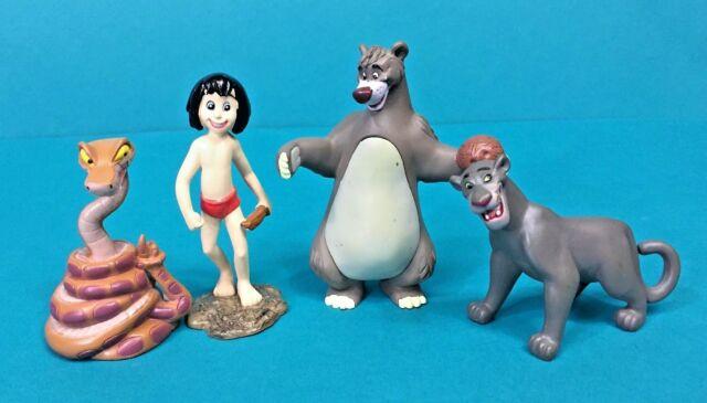 BALOO und MOWGLI APPLAUSE CHINA JUNGLE Buch PVC Figur 6 cm Disney