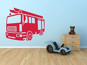 Wandtattoo Aufkleber Feuerwehr Auto Kinderzimmer Ki089 Ebay