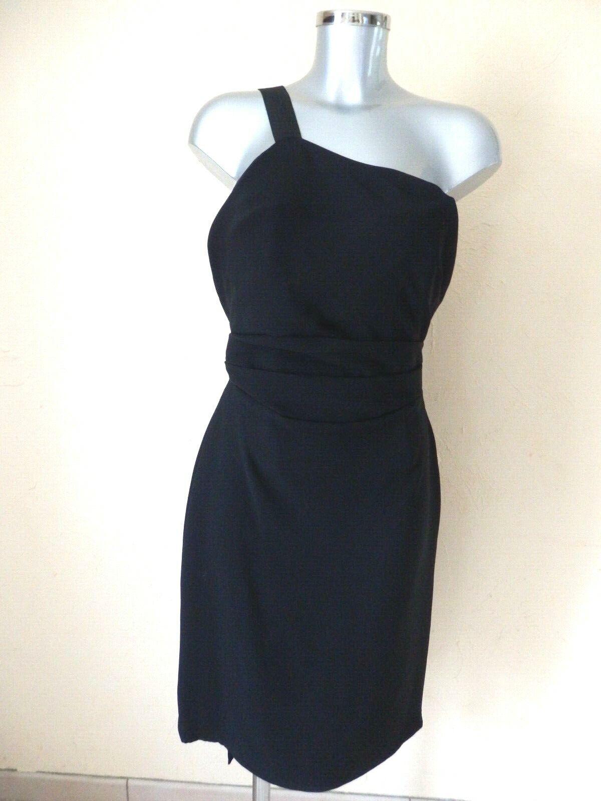 GIVENCHY - Robe 1 bretelle - 100% soie blacke - T.42fr - AUTHENTIQUE