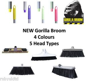 NEW RED GORILLA BROOM  HORSE STABLE GARDEN FARM HOUSE Red 30cm 50cm wide