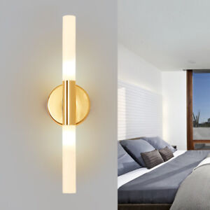 Modern White Acrylic Long Bar Led Indoor Porch Wall Lights Sconces In Black Gold Ebay