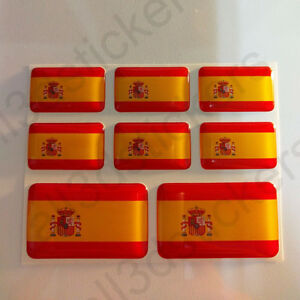 Pegatinas-Espana-Pegatina-Bandera-Espanola-Vinilo-Adhesivo-3d-Relieve-Resina