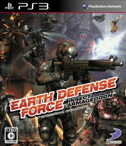 PS3 EARTH DEFENSE FORCE:INSECT ARMAGEDDON Free Shipping with Tracking# New Japan