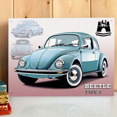 Volkswagen Beetle Cabriolet Metal Wall Sign VW Gift Licensed 300x410mm 5062