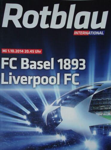 Programm UEFA CL 2014//15 FC Basel Liverpool FC