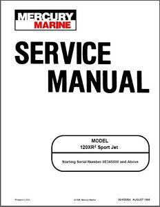 mercury 120xr2 sport jet drive service repair manual cd 120xr 120 rh ebay com Mercury 90 HP 2 Stroke Mercury Wi-Fi ManualsOnline