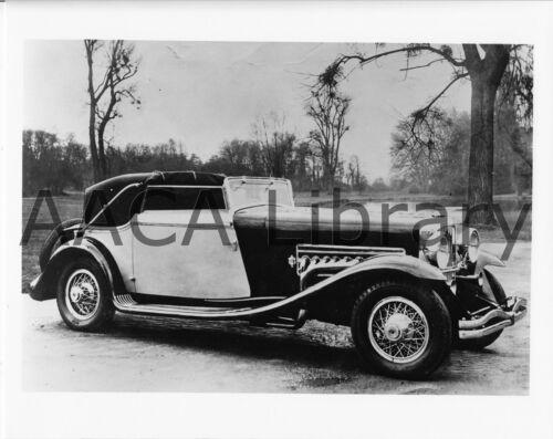 Ref. #39452 1933 Duesenberg SJ Fernandez /& Darrin Convertible Factory Photo