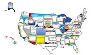 RV Motorhome And Trailer Exterior State Sticker Map USA States - Map of usa states